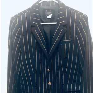 J.Crew navy & yellow striped school boy blazer.